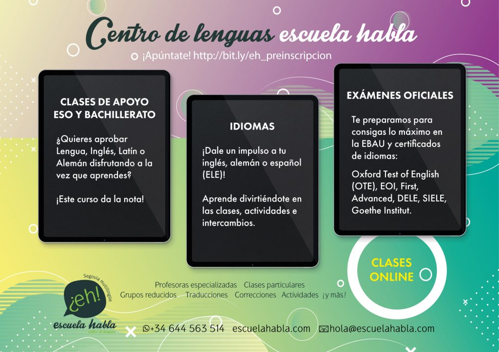 Clases de apoyo ESO y bachillerato, idiomas, exámenes oficiales...
